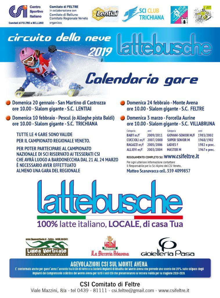 Fisi Veneto Calendario.Circuito Della Neve Lattebusche 2019 Csi Feltre